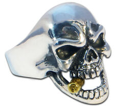 Ring Mens Biker Skull sterling silver Rock n Roll 18 grams handmade jewelry 925