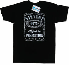 Vintage Aged to Perfection 1975 40th Birthday Present T Shirt 40 Years Old