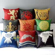 Game of Thrones Family Design Cushion Cover Pillow Case Bed Home Decorative New