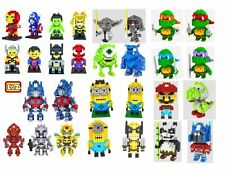 Diamond Nano Blocks Super Heroes Mini Figures Toys Lot Ninja Turtle Mario Yoda