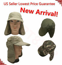 Men's Outdoor Protection UV-proof Windproof Fishing Cap Neck Face Flap Hat SJP