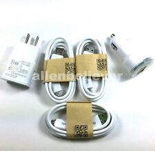 FOR SAMSUNG Micro USB Cable + Wall + Car Charger For Galaxy Note4 Note2 S4 S3 S2