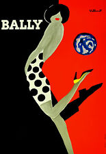 Vintage Bally Poster Home Decor Canvas Print, choose your size.