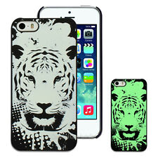 NEW Luminous Glow in Dark Tiger Cover for Apple iPhone 5 5S 5C 6 6+ Hard Case
