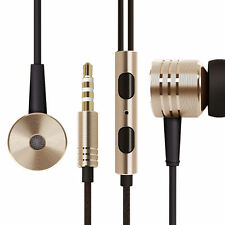 Piston Earphones Earbuds In Ear & Mic Remote Wire Gold/Silver FOR Xiaomi 2nd