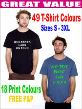 CUSTOM PERSONALISED T-SHIRTS TEE SHIRT STAG HEN HOLIDAY DESIGN YOUR OWN T SHIRTS