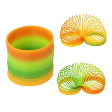 Large Rainbow Plastic Spring Toy Slinky Type Stretchy Springy Children kid Toy