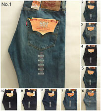 MEN'S LEVI 501 STRAIGHT LEG BUTTON FLY JEANS 30,31,32,33,34,35,36,38,40,42 BNWT
