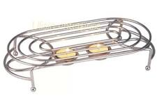 Food Warmer Rack Stand Chrome with Tea Light Candle Kitchen OVAL/ ROUND BNIB