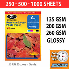 Sumvision Premium Inkjet Printer Photo High Glossy Gloss Paper A4 Size Bundles