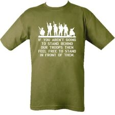 SUPPORT OUR TROOPS T-SHIRT GREEN 100% COTTON BRITISH ARMY CADET CHARITY LISTING