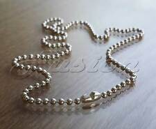 925 Sterling Silver Bead Ball Chain Necklace Anklet Bracelet & Connector Clasp