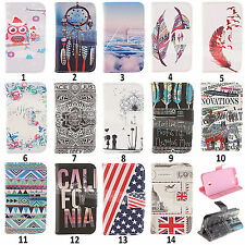 Various Pattern Leather Wallet + TPU Skin Case Cover For Nokia Lumia 630 635