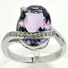 925 Silver 5.10 Ct Natural Purple Amethyst Ring