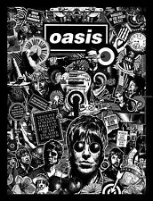 Oasis Black and White Art PrintPoster Music Band OBW01 A3 A4 POSTER ART PRINT
