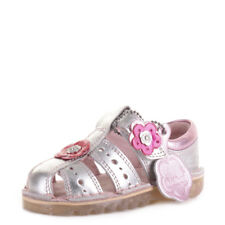 Kickers Girls Infant Kids San Leather Childrens Silver Sandals Shoes Size