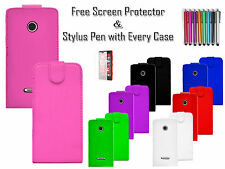 Magnet Leather PU Flip Wallet Case Cover Card/Cash Holder For Nokia Lumia N435