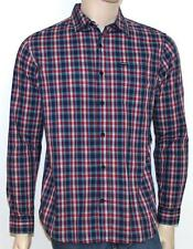 Hurley Tanner Button Up Long Sleeve Shirt Mens Blue Red Woven Plaid New NWT
