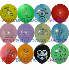 """5PCES 10"""" THEMED PRINTED LATEX BALLOONS (MANY DESIGNS) BIRTHDAY PARTY SUPPLIES"""