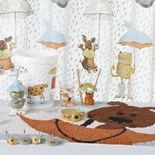 Raining Cats and Dogs Bathroom Collection Shower Curtain and Bath Accessories