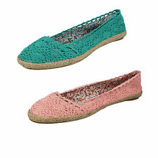 Ladies f2196 pink and green espadrilles flats shoes by spot on Retail £2.99