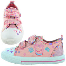 Peppa Pig Ryther Canvas Girls Trainers - Pink/Velcro (4,5,6,7,8,9,10)