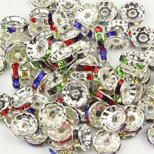 Multicolor Rondelle Spacer Beads Glass Swarovski Crystal Rhinestone 6MM 8MM 10MM