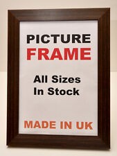 Large Mahogany Brown Picture Photo frame 40mm wide in All Sizes Picture Frame