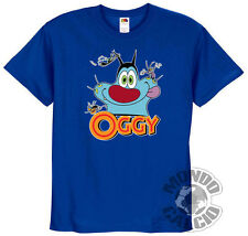 SHIRT OGGY AND THE COCKROACHES T-SHIRT BLUE JERSEY KID CHILD