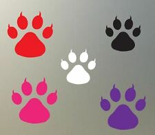 "(4) 2"" CAT paw print vinyl Decal sticker cougar tiger feline glass plastic S823"