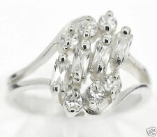 925 Sterling Silver White CZ Gentle Ring