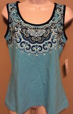 """Women's Activewear """"Made For Life"""" blue  tank top sleeveless NWT Size PS"""