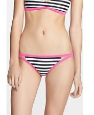 NWT ROXY FLIP SIDE BIKINI BOTTOM SEA SALT STRIPE XS S M