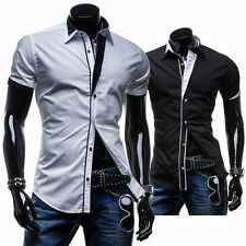 Camicia Uomo maniche corte SLim-Fit Short sleeve Shirt Men c114
