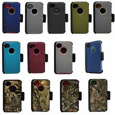 Defender Protective Case Camo Series w/Clip & Screen Protector For iPhone 4 / 4S