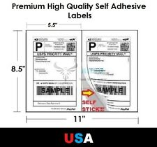 """Premium Self Adhesive 8.5""""x5.5"""" Laser Shipping Labels 2UP 2 per page Avery Comp"""