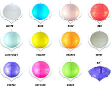 "Colored chinese Paper Lantern 12"" lof of 2/5/10 pcs Wedding Party Decoration"