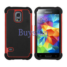 Anti-slip Hybrid Rugged Rubber Hard Cover Case for Samsung Galaxy S5 Mini