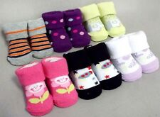 Wholesale Lot 12 Pairs Boys & Girls Baby Knitted Socks - Size: Newborn (E00002N)