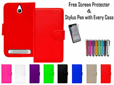 Premium Leather Pu Wallet Flip Case Cover Cash Card Holder For Sony Xperia E1