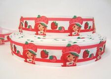 "GROSGRAIN STRAWBERRY SHORTCAKE 7/8"" RIBBON FOR BOWS *YOUR CHOICE 1, 3, 5 YARDS"