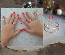 925 Sterling Silver Midi Above Knuckle Ring Toe Ring Plain Ring. Adjustable.