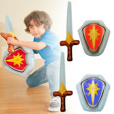 Inflatable Blow Up Knights Shield And Sword Set Play Fight Battle Toy Gift Royal