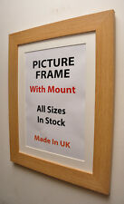 40mm Oak Picture Frame with Mount,Choice of Ivory,Black or White Mount