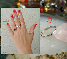Street Style Sterling Silver Midi Rings, Toe rings, Band Rings, Size Adjustable