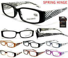 Plastic Color Reading Glasses with Abstract Design