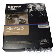 Official Shure SE425 Dual High-Def In-Ear Headphones Silver Clear EMS form Japan