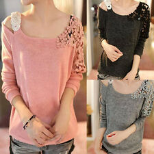 New Fashion Women Long Sleeve Knitted Pullover Loose Sweater Knitwear Hoc