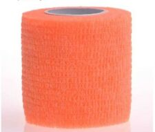 "Elastic Cohesive Bandage Self-Adherent Sports Tape Fluorescent orange 2""x5yards"