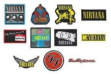 # NIRVANA / FOO FIGHTERS - OFFICIAL SEW-ON PATCH patches logo kurt cobain